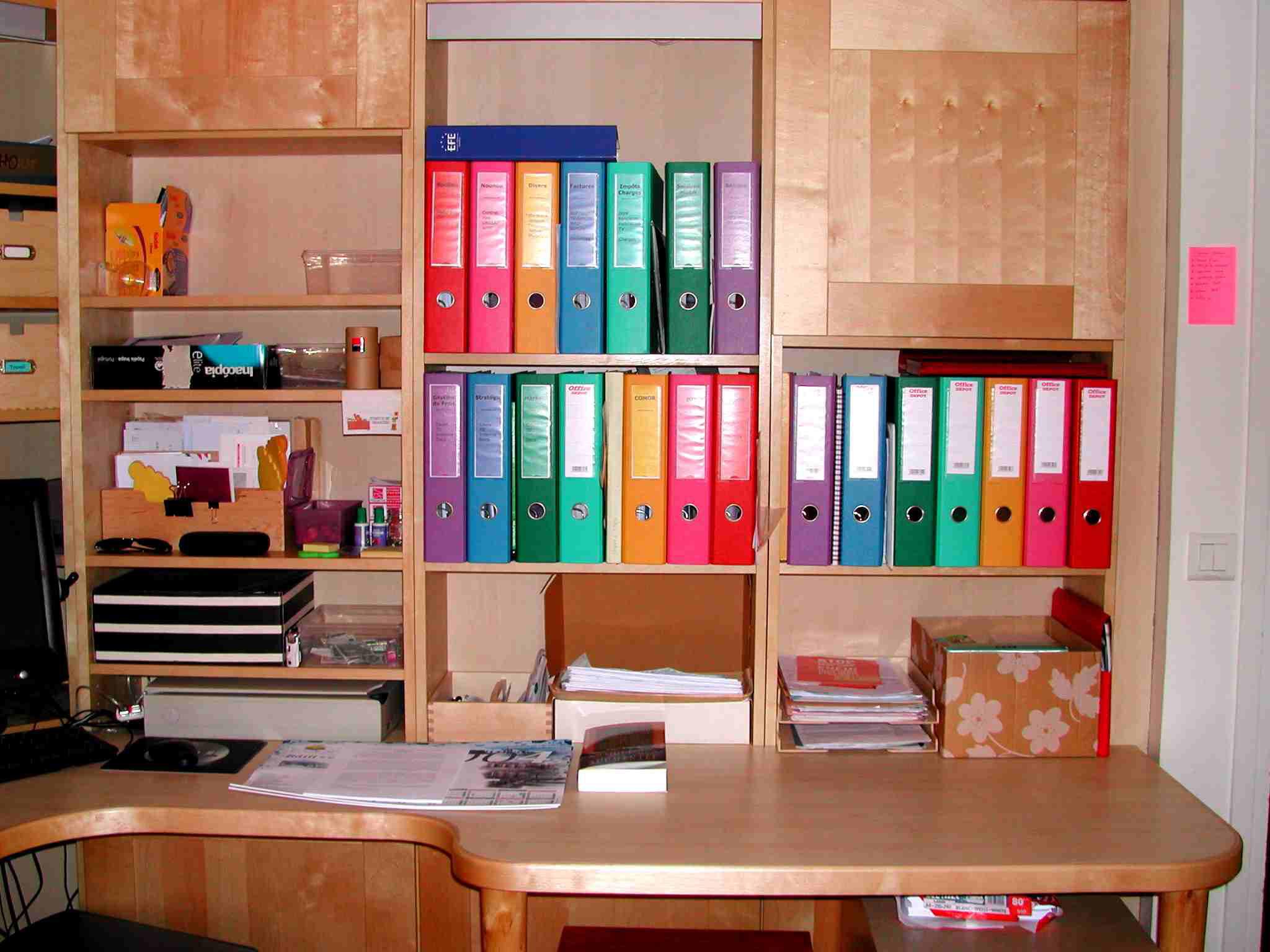 Avant apr s un bureau s 39 organiser c 39 est facile - Organiser un bureau ...