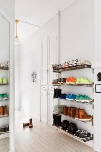 rangement chaussures en évidence