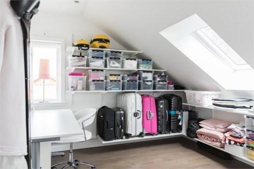 rangement bagages adapté sous pente